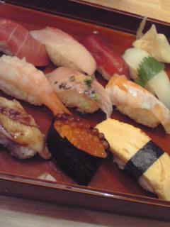 今晩は寿司